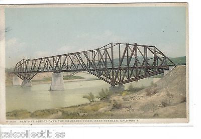 Santa Fe Bridge over The Colorado River near Needles,California Fred Harvey - Cakcollectibles - 1