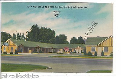 Alta Motor Lodge-Salt Lake City,Utah 1951 - Cakcollectibles