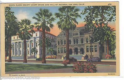 Santa Clara County Court House and Hall of Records-San Jose,California 1945 - Cakcollectibles