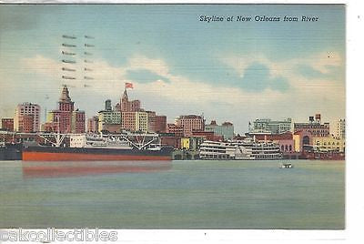 Skyline of New Orleans from River 1943 - Cakcollectibles