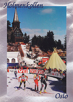 Norway:Holmenkollen, Oslo World Championship In Biathlon 2000 Postcard - Cakcollectibles - 1