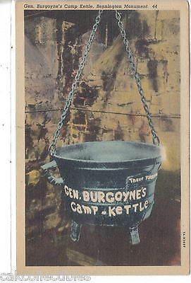 General Burgoyne's Camp Kettle-Bennington Monument - Cakcollectibles