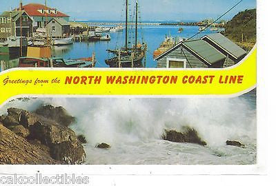 Greetings from The North Washinton Coast Line - Cakcollectibles