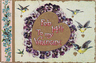 Feb. 14th To My Valentine Postcard - Cakcollectibles - 1