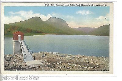 City Reservoir and Table Rock Mountain-Greenville,South Carolina - Cakcollectibles