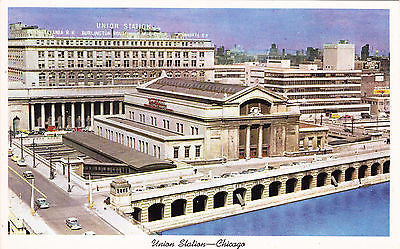 Chicago's Union Station Postcard - Cakcollectibles