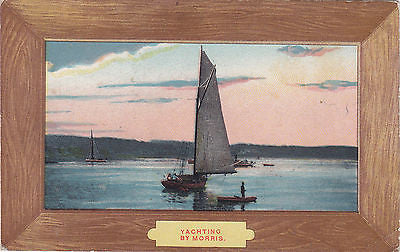 Yachting By Morris Painting Portrait Postcard - Cakcollectibles