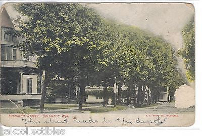 Ludington Street-Columbus,Wisconsin 1908 - Cakcollectibles