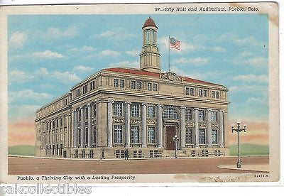 City Hall and Auditorium-Pueblo,Colorado - Cakcollectibles