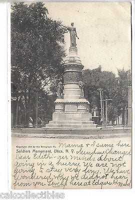 Soldiers Monument-Utica,New York 1907 - Cakcollectibles