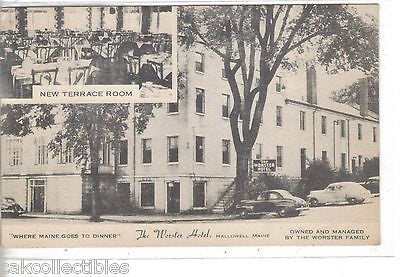 The Worster Hotel-Hallowell,Maine - Cakcollectibles - 1