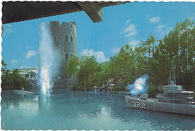 """Mock Naval Battle"" Universal Studios, California Postcard - Cakcollectibles - 1"