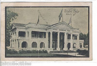 Michigan State Fair Building 1909 - Cakcollectibles - 1