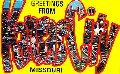 Greetings From Kansas City Missouri Postcard - Cakcollectibles