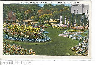 Armory Flower Beds and side of Armory-Minneapolis,Minnesota - Cakcollectibles
