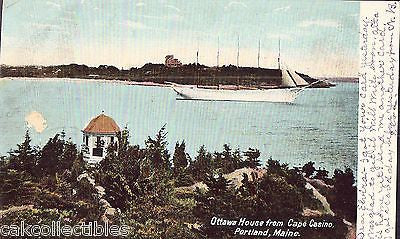 Ottawa House from Cape Casino-Portland,Maine 1906 - Cakcollectibles