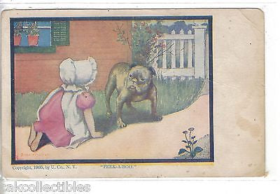 """Peek-A-Boo""-Bonnet Baby with Dog (Dorothy Dixon) - Cakcollectibles - 1"