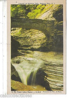 Cascade at Rainbow Falls--Watkins Glen,New York - Cakcollectibles