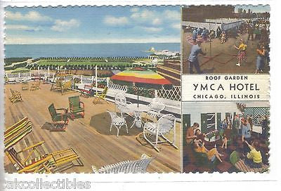 Roof Garden,YMCA Hotel-Chicago,Illinois - Cakcollectibles