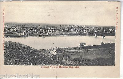 General View of Medicine Hat,Alberta,Canada - Cakcollectibles