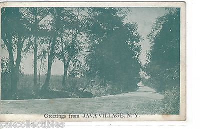 Greetings from Java Village,New York - Cakcollectibles