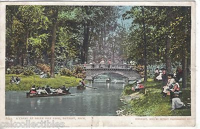 A Canal at Belle Isle Park-Detroit,Michigan 1905 - Cakcollectibles