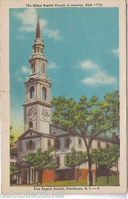 First Baptist Church-Providence,R.I. (The Oldest Baptist Church in America) - Cakcollectibles