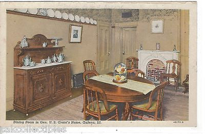 Dining Room in Gen. U.S. Grant's Home-Galena,Illinois - Cakcollectibles