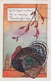 With Best Wishes For A Happy Thanksgiving Postcard - Cakcollectibles - 1