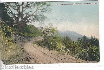 Mt. Tamalpais,California from The Divide 1908 - Cakcollectibles