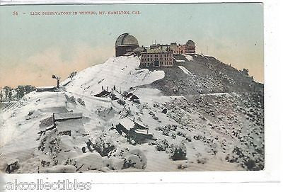Lick Observatory in Winter-Mt. Hamilton,California - Cakcollectibles