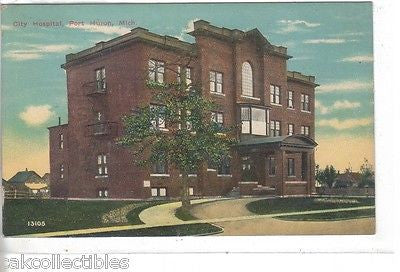City Hospital-Port Huron,Michigan 1913 - Cakcollectibles - 1