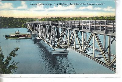 Grand Glaize Bridge, U.S. Highway 54, Lake of the Ozarks, Missouri - Cakcollectibles