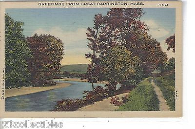 Greetings from Great Barrington,Massachusetts 1951 - Cakcollectibles