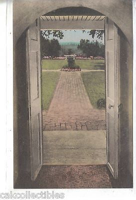 """Ash Lawn"",Archway View showing Monticello-Charlottesville,Va (Hand Colored) - Cakcollectibles"