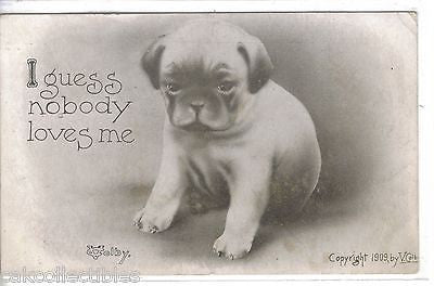 """I Guess Nobody Loves Me""-Dog V.Colby 1911 - Cakcollectibles"