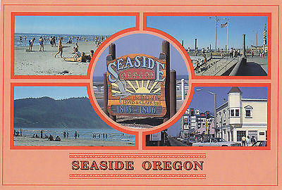 """Seaside Oregon"" Two Mile Promenade Postcard - Cakcollectibles - 1"