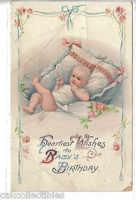 Heartiest Wishes to Baby's Birthday 1915 - Cakcollectibles