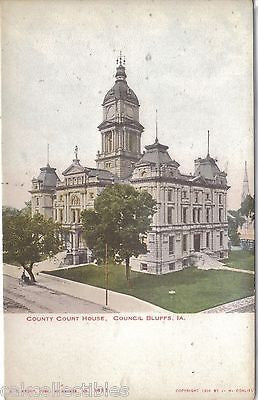 County Court House-Council Bluffs,Iowa UDB - Cakcollectibles