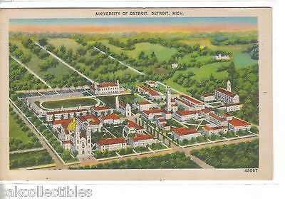 Aerial View-University of Detroit-Detroit,Michigan - Cakcollectibles