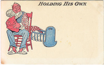 Dad Holding Child Postcard - Cakcollectibles