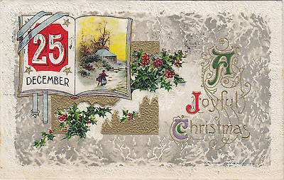 Dec. 25th A Joyful Christmas John Winsch Postcard - Cakcollectibles