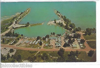 Aerial View-Boat Basin & Marina-Grindstone City,Michigan - Cakcollectibles - 1