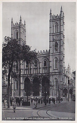 L'eglise Notre-Dame Church, Montreal, Canada Postcard - Cakcollectibles