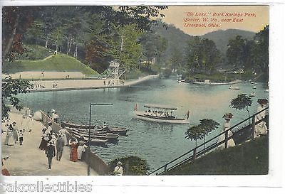 """The Lake"",Rock Springs Park-Chester,West Virginia - Cakcollectibles"