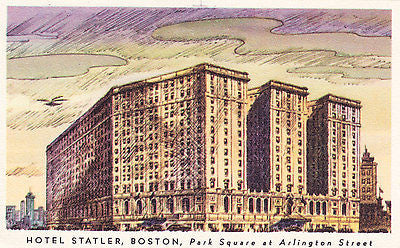 Hotel Statler Boston Postcard - Cakcollectibles