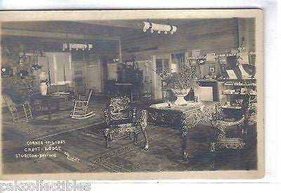 RPPC-Corner of Lobby,Cabot Lodge-Sturgeon Bay,Wisconsin - Cakcollectibles
