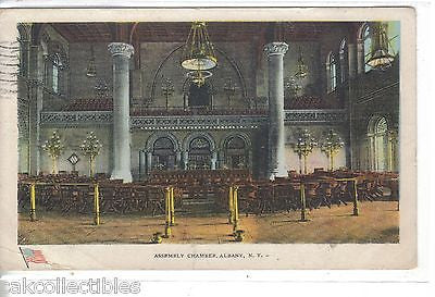 Assembly Chamber-Albany,New York 1909 - Cakcollectibles