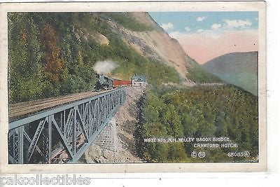 Willey Brook Bridge-Crawford Notch,White Mts.,New Hampshire 1916 - Cakcollectibles