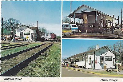 Old Railroad Depot, Plains Georgia Postcard - Cakcollectibles - 1